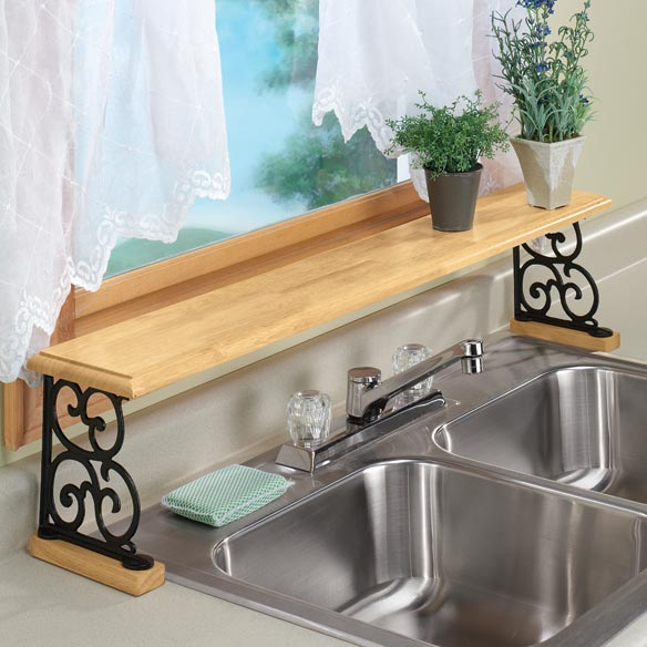 Over the sink shelf over the kitchen sink shelf miles - Como decorar una cocina pequena ...