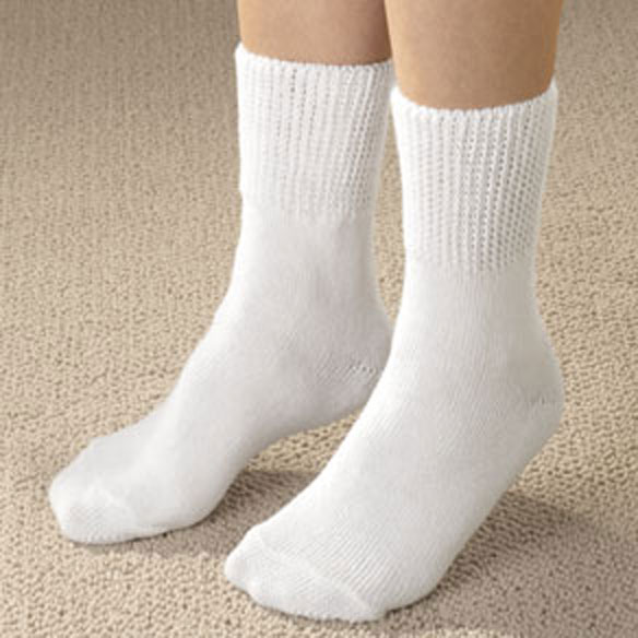 Extra-Wide Diabetic Ankle Socks 2 Pair