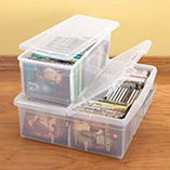Storage & Organization - Stacking Media Storage Boxes