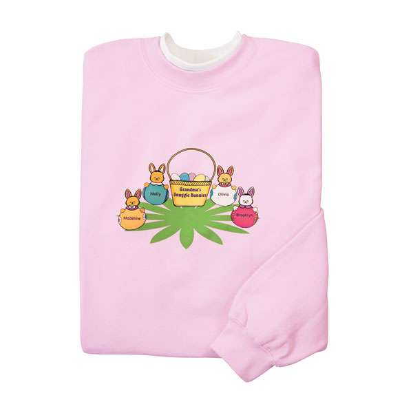 Personalized Snuggle Bunny Sweatshirt Sm-XL