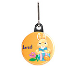 Easter - Personalized Easter Bunny Zipper Pull