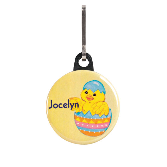 Personalized Chick Egg Zipper Pull