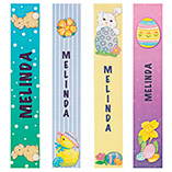 Christmas & Holidays - Personalized Easter Bookmarks, Set of 4