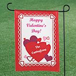 Valentines Day - Personalized Valentine's Day Garden Flag