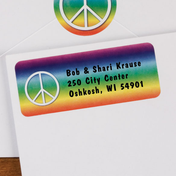 Peace Symbol Labels 250
