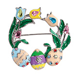 Easter - Easter Wreath Pin