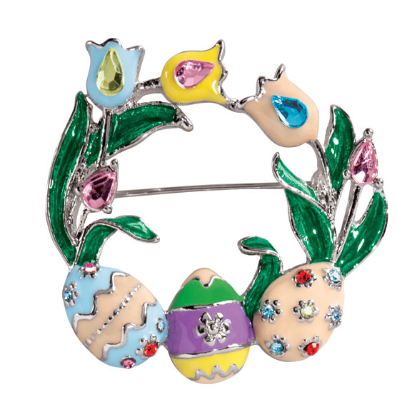 Easter Wreath Pin