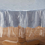 View All Tablecovers & Chair Accessories - Clear Tablecloth Protector