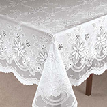 View All Tablecovers & Chair Accessories - Vinyl Lace Tablecloth
