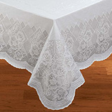 View All Tablecovers & Chair Accessories - Floral Vinyl Lace Table Cover