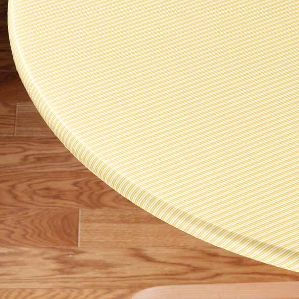 Pinstripe Elasticized Table Cover