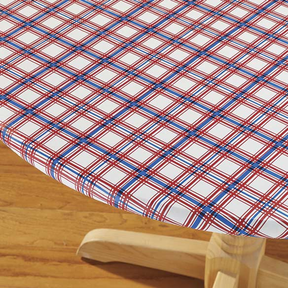 Elasticized Patriotic Patio Table Cover