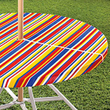 Patio & Grill - Striped Umbrella Table Cover