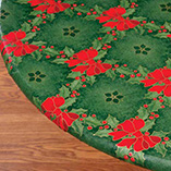 View All Tablecovers & Chair Accessories - Holly & Ribbons Elasticized Table Cover