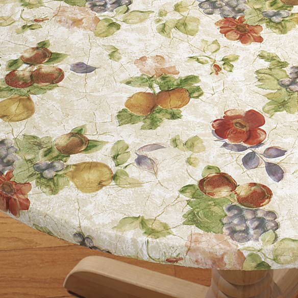 Antique Fruit Vinyl Elasticized Table Cover