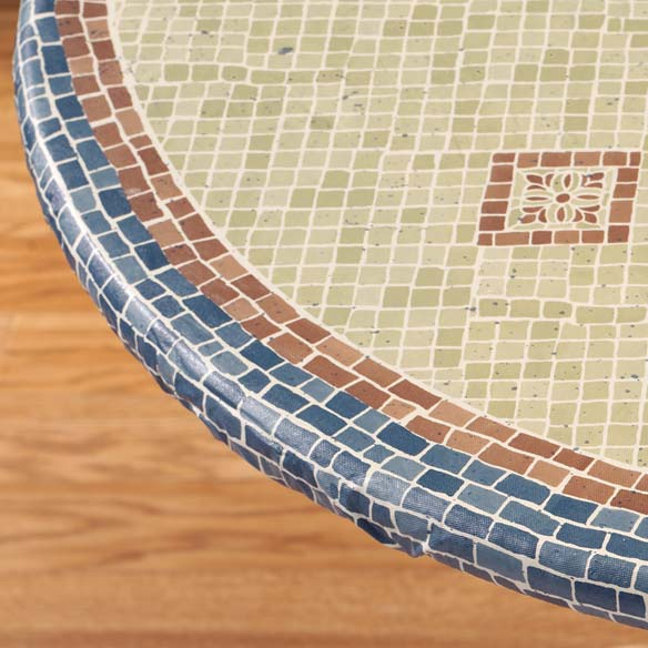Fiorenza Mosaic Elasticized Table Cover Miles Kimball