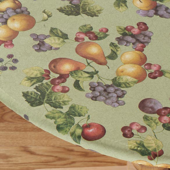 Sage Antique Fruit Elasticized Table Cover