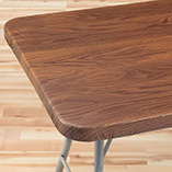 View All Tablecovers & Chair Accessories - Wood Grain Elasticized Table Cover