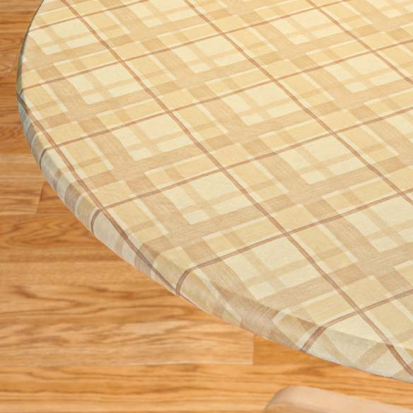 Portland Plaid Elasticized Table Cover