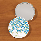 Personalized Scrollwork Pocket Mirror