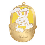 Christmas & Holidays - Personalized Bunny Basket Tag