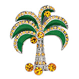 Apparel & Jewelry - Palm Tree Brooch