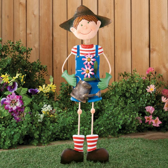 Garden Boy Lawn Stake by Maple Lane Creations