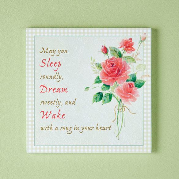 8x8 Sleep, Dream, Wake Wood Wall Plaque