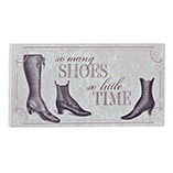 Shoes Wood Plaque 4x8