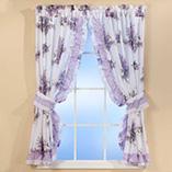 Decorative Bedding - Lilac Ruffle Curtains