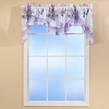 Decorative Bedding - Lilac Bouquet Valance