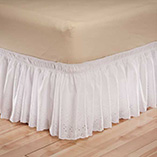 View All Bedding & Pillows - White Eyelet Bed Ruffle