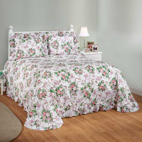 Ribbons & Roses Floral Plisse Bedding