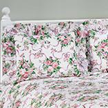 Pillows, Blankets & Sheets - Ribbons & Roses Floral Plisse Pillow Shams