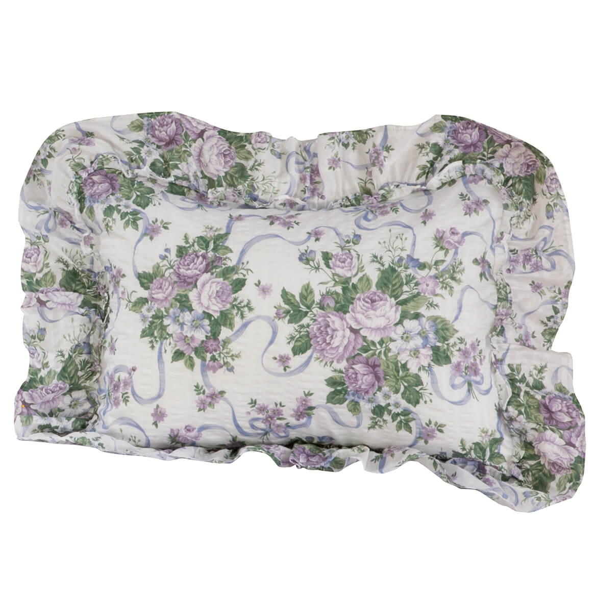 Ribbons & Roses Floral Plisse Pillow Shams-345204