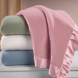 View All Bedding & Pillows - Satin Fleece Blanket