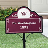 Kitchen, Home & Pets - Personalized Magnetic Address Yard Sign