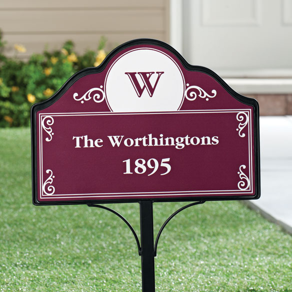 Personalized Address Magnetic Sign