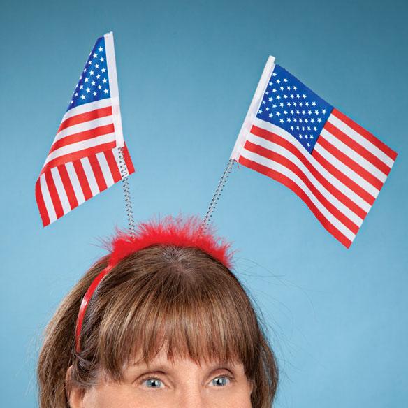 Patriotic Bobble Headbands