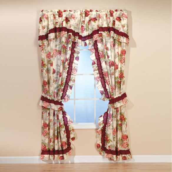 Geranium Curtain Pair
