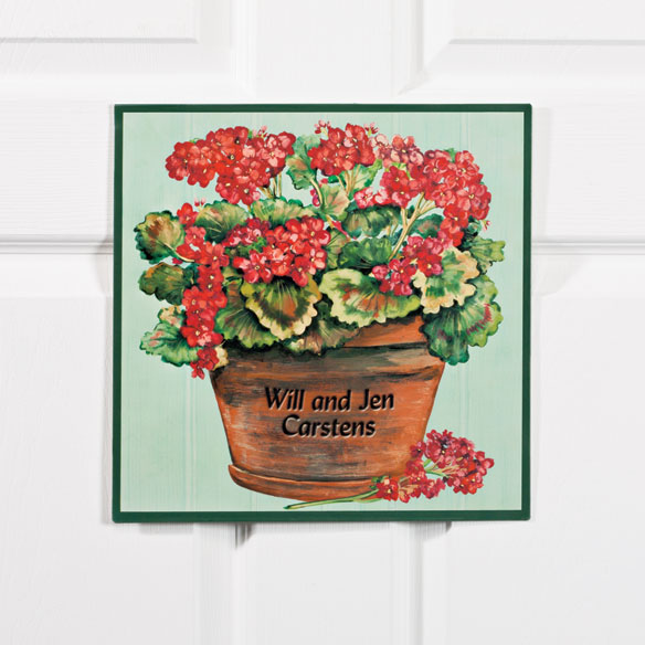 Personalized 12x12 Summer Metal Door Plaque