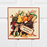 Home Décor - Personalized 12x12 Autumn Metal Door Plaque