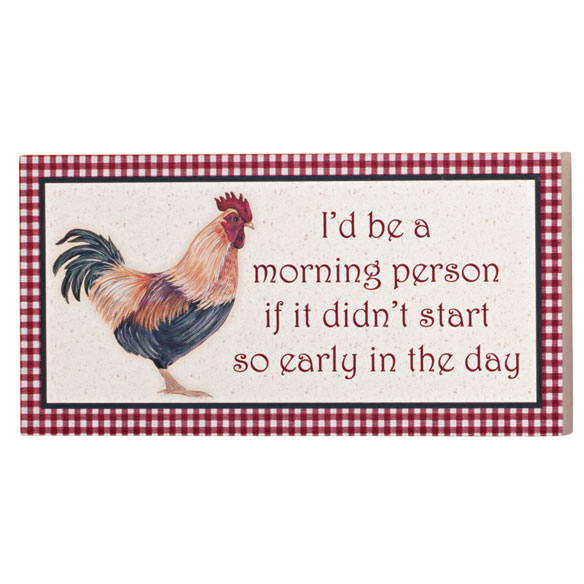 4x8 Morning Person Wood Wall Plaque