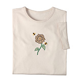 View All Sweatshirts & T-Shirts - Jeweled Sunflower and Bee Shirt
