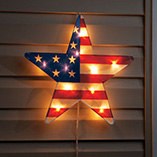 4th of July - American Lighted Star 16""