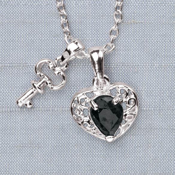 Unique's Shop Sapphire Heart and Key Pendant at Sears.com