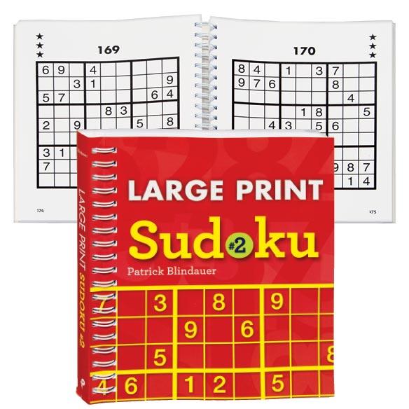 Large Print Sudoku Books