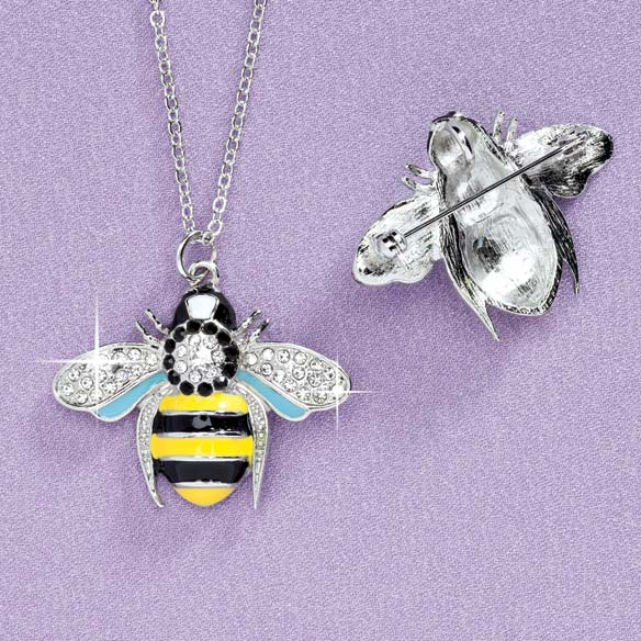Bumble Bee Necklace/Brooch