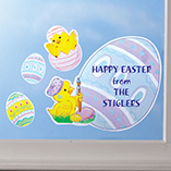 Christmas & Holidays - Personalized Easter Window Clings