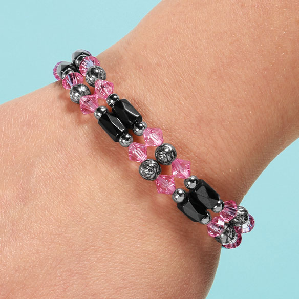 Rose Hematite Bracelets, Set of 2